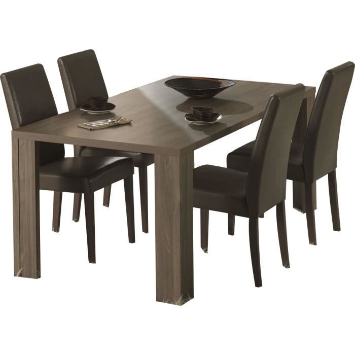 table salle manger ultra moderne coloris ch ne ethnique achat vente table a manger sans. Black Bedroom Furniture Sets. Home Design Ideas
