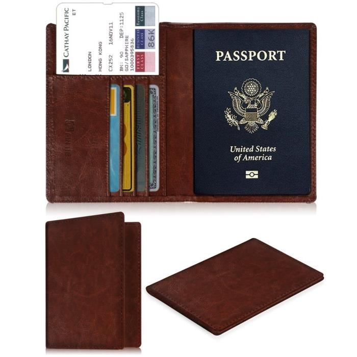 Hama Etui de protection pour passeport et cartes de cr/édit noir