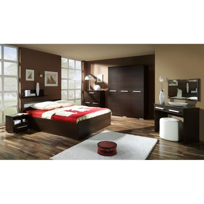 justhome fokus ensemble de chambre coucher couleur weng achat vente chambre compl te. Black Bedroom Furniture Sets. Home Design Ideas