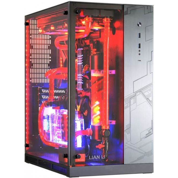 BOITIER PC  Lian Li PC-O11WGX  qROG Editionq Midi Tower - schw