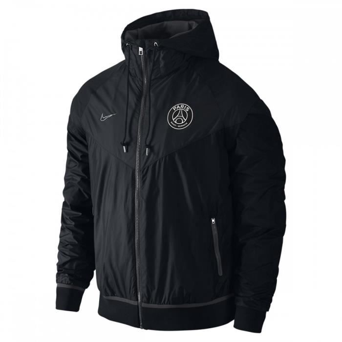 veste coupe vent nike psg windrunner 703716 010 noir achat vente poncho sport cdiscount. Black Bedroom Furniture Sets. Home Design Ideas