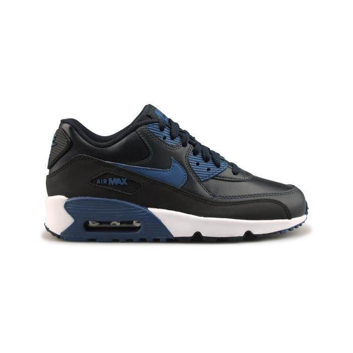 Nike Air Max 90 Ltr Junior Bleu Bleu/Noir - Cdiscount Chaussures