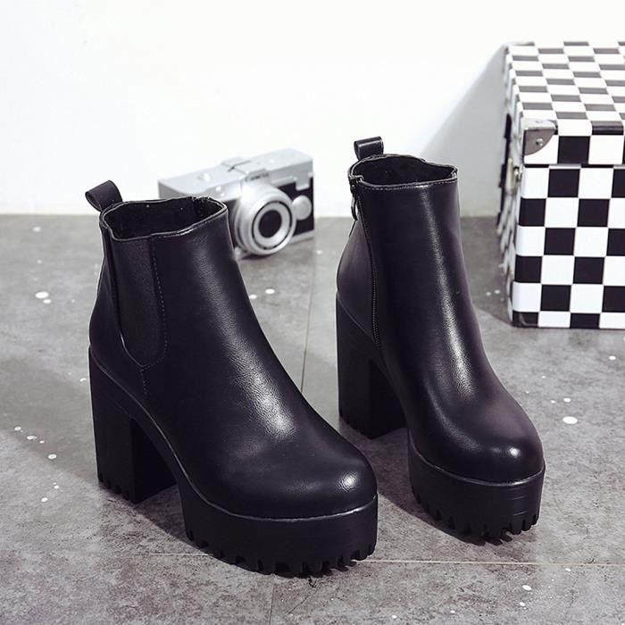 carré Bottes formes en XYM61114901BK39 Pump talon Cuissardes Jeffrey®Femmes Bottes Noir cuir Chaussures Plate NywPnm80Ov
