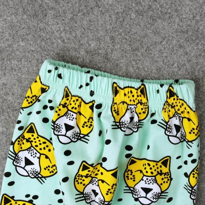 PANTALON Bébés garçons filles Pantalon imprimé léopard bas