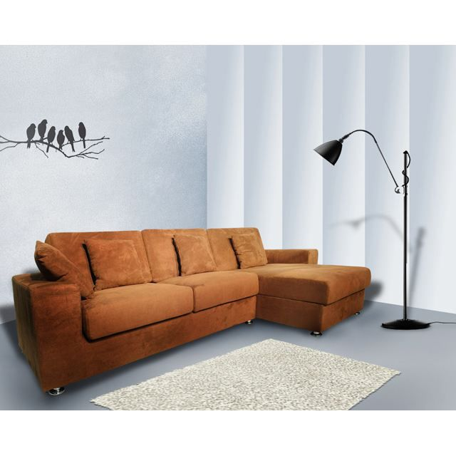 canap lit d 39 angle blake 295 x 151 x 69 achat vente canap sofa divan cdiscount. Black Bedroom Furniture Sets. Home Design Ideas