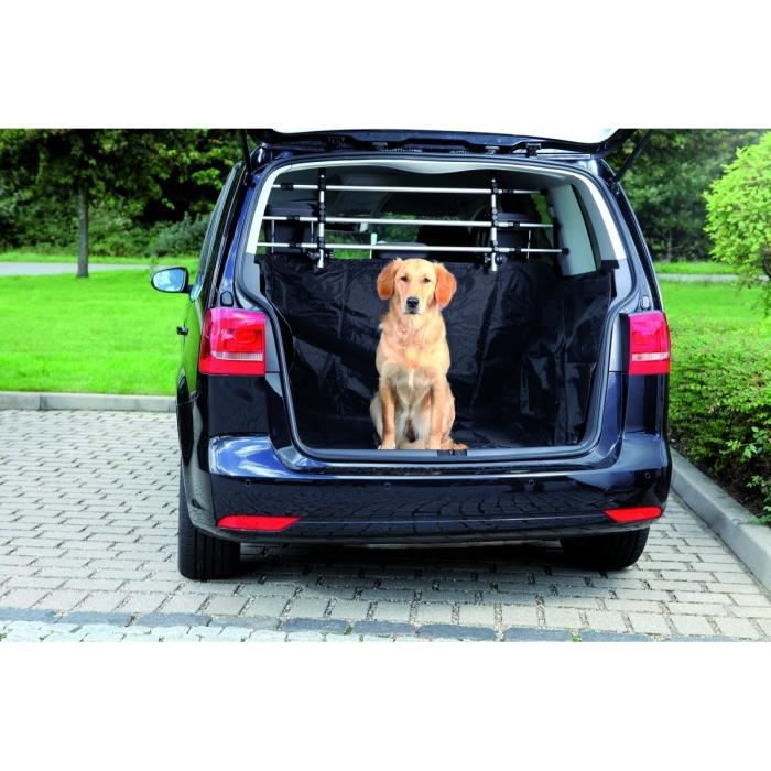 trixie prot ge coffre voiture 2 30 1 70 m noir pour chien achat vente tapis de transport. Black Bedroom Furniture Sets. Home Design Ideas