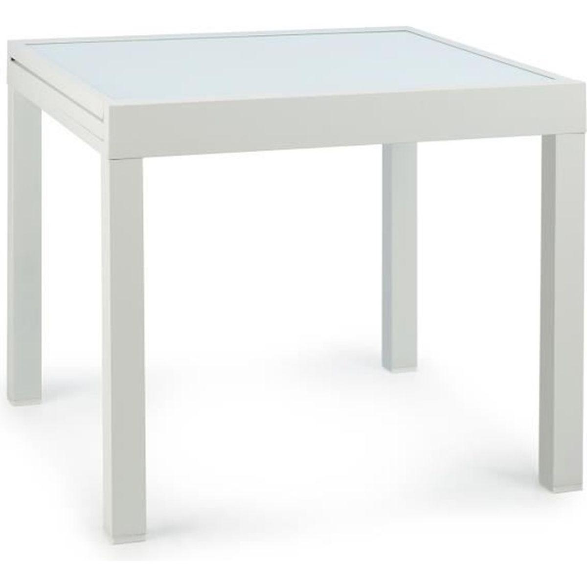 Table de jardin carre extensible
