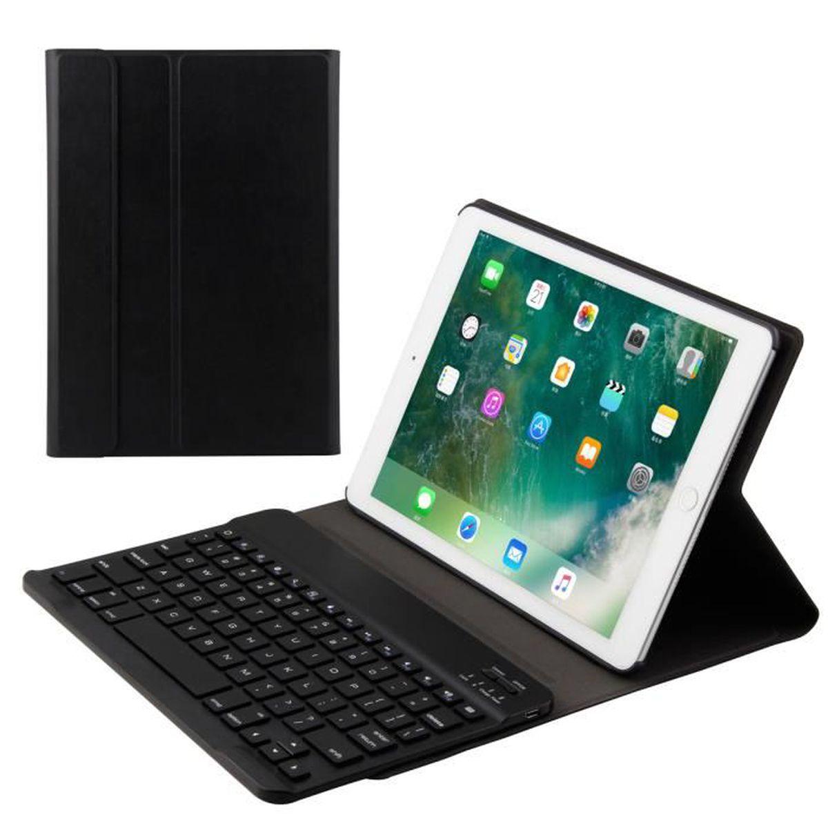 iPad Pro 2017 9.7 iPad Air 2 Clavier Bluetooth AZERTY fran/çais 9.7 iPad Housse Coque Stand Pochette de Protection pour iPad 2017 9.7 iPad Air 1 Fonction Sommeil R/éveil Automatique