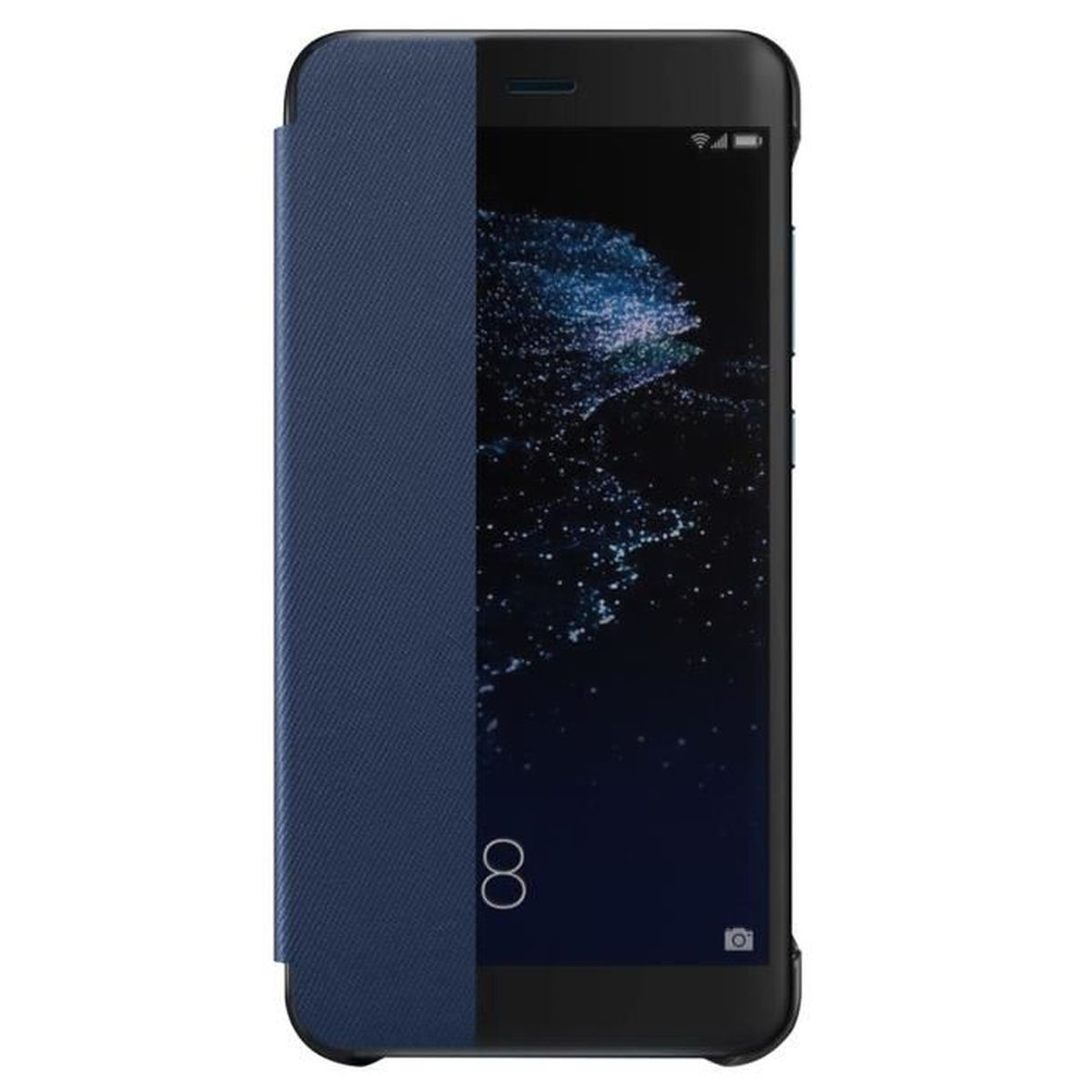 etui huawei p10 lite s view bleu avec fen tre officiel. Black Bedroom Furniture Sets. Home Design Ideas