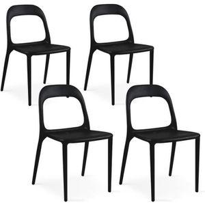 FAUTEUIL JARDIN  Chaise de jardin plastique Noir