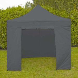 TONNELLE - BARNUM Mur porte gris pour tente pliante 3x3m