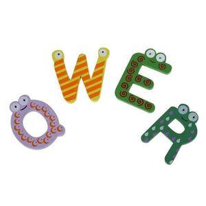 AIMANTS - MAGNETS Colore mode magnetique Alphabet-aimants en bois de