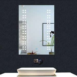 PORTE DE DOUCHE Miroir Salle de bains 50x39cm miroir mural avec éc