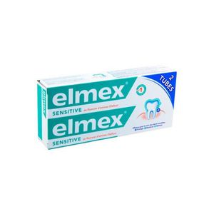 DENTIFRICE ELMEX SENSITIVE Dentifrice lot 2x75 ml