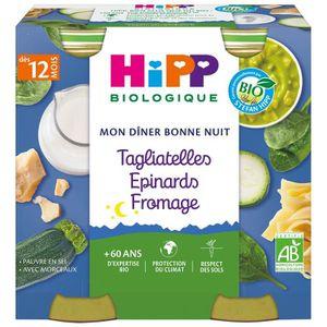 PURÉES DE LÉGUMES HIPP BIOLOGIQUE Mon dîner bonne nuit Tagliatelles