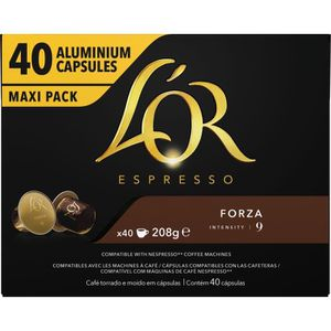CAFÉ Café Capsules L'Or Espresso Forza en aluminium com