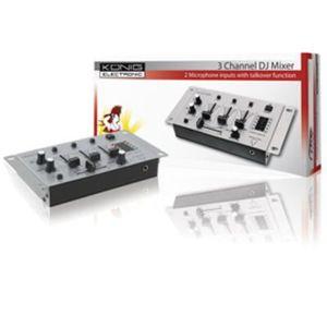 TABLE DE MIXAGE Table de mixage 3 canaux dj 2 entrees kn djmixer10