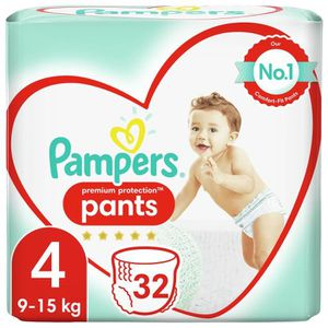 COUCHE PAMPERS Premium Protection Pants Geant T4 X32