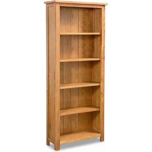 BIBLIOTHÈQUE  Bibliothèque à 5 étagères Chêne 60 x 22,5 x 140 cm