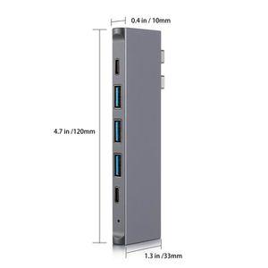 ADAPTATEUR AUDIO-VIDÉO  ViewTek TC0150B Hub C USB, Adaptateur de hub 8 en