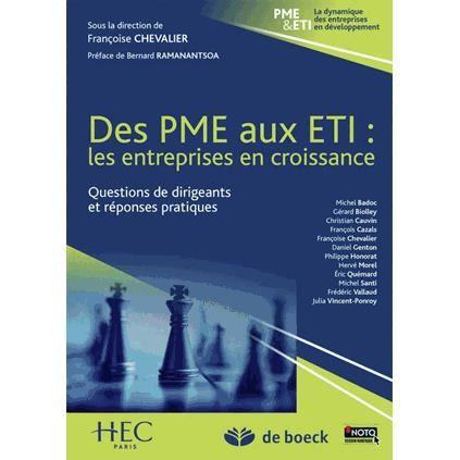 LIVRE GESTION Des PME aux ETI : les entreprises en croissance