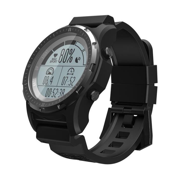 Montre connectée,Makibes BR2 GPS boussole compteur de vitesse Sport montre Bluetooth randonnée multi sport fitness - Type black
