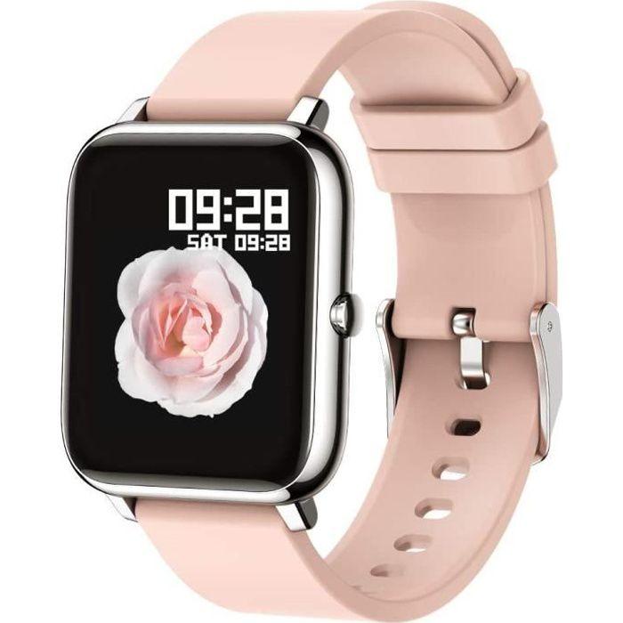 Montre connectée Smartwatch Cadiofréquencemètre Moniteur de Sommeil Pression Artérielle Compatible Android iOS pour Homme Femme Mont