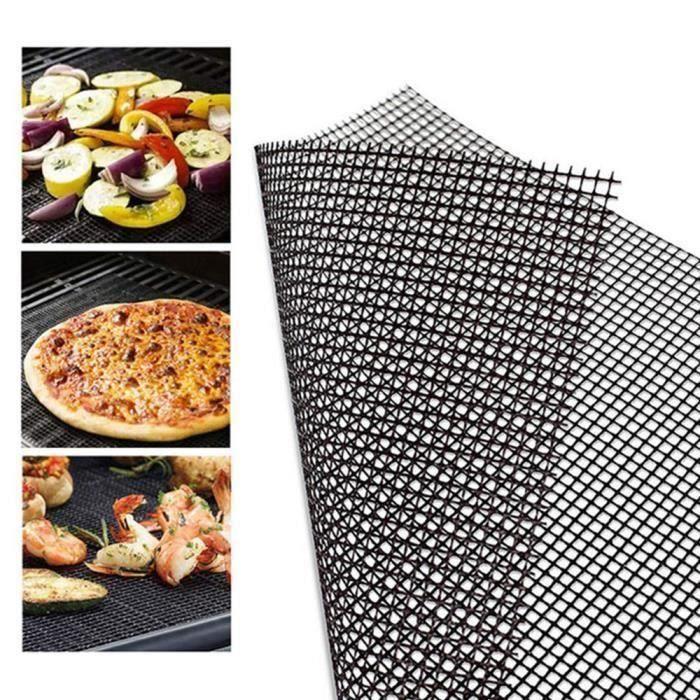 Barbecue en maille Tapis 2 Pcs Grille de tapis de barbecue grill anti-adhésif pour cuisson barbecue cuisson 36 x 42 cm -str