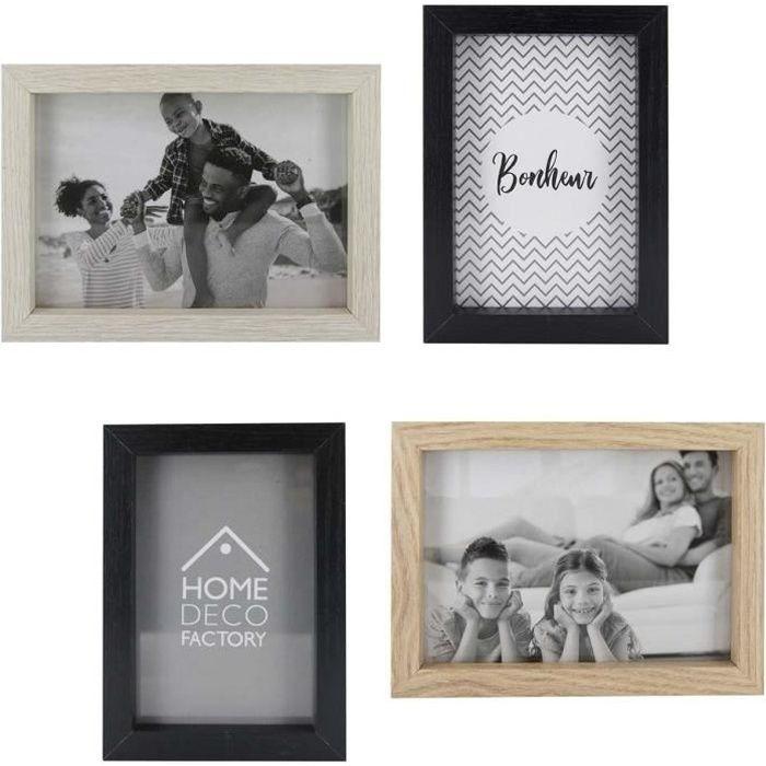 Cadres photos en bois (Lot de 4) Noir