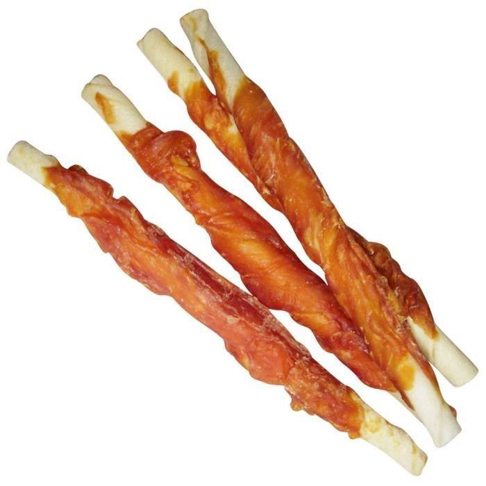 Schecker Bâtonnets à mâcher au poulet séché soigneusement Sains, pauvres en graisses et digestes: Animalerie