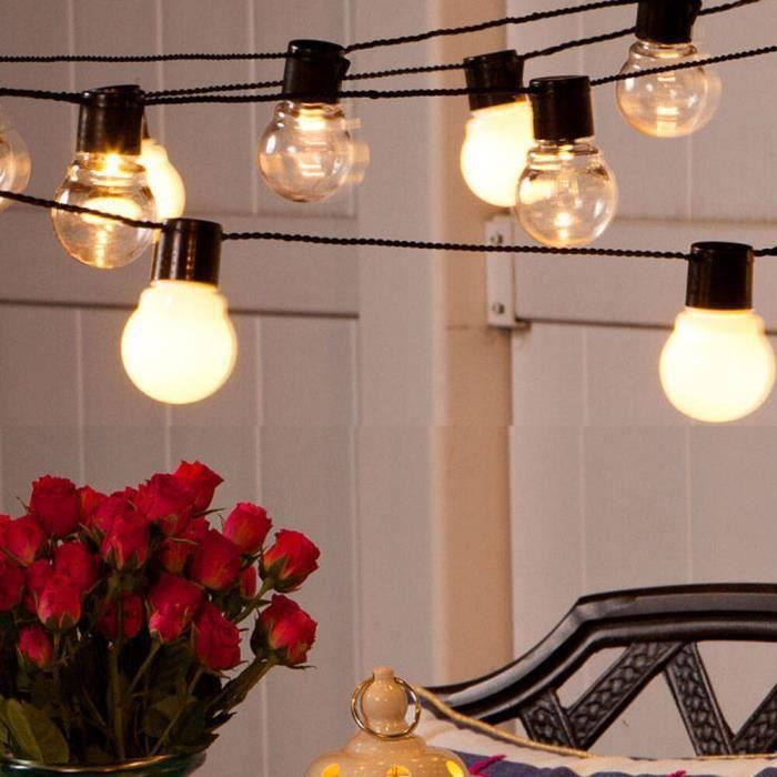 6M 20 Globe ampoule LED chaîne lumière fée lumière extérieure Led chaîne G50 ampo - Modèle: transparent bulb EU plus - MILEDCA15547