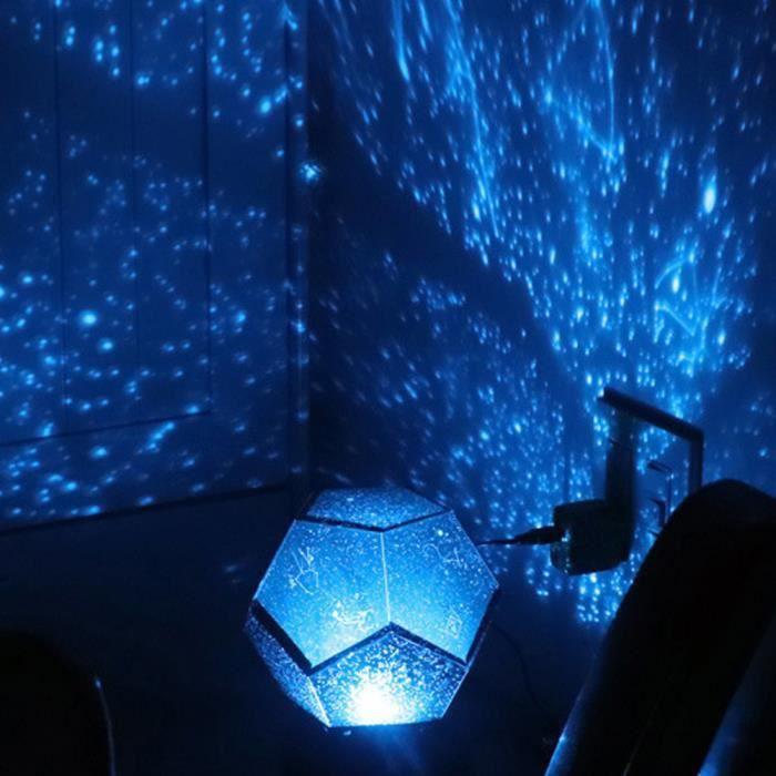 Lumière de Ciel étoilé, Lampe de Projection de Rotation alimenté par USB Cadeaux d'anniversaire de Saint Valentin (Bleu)