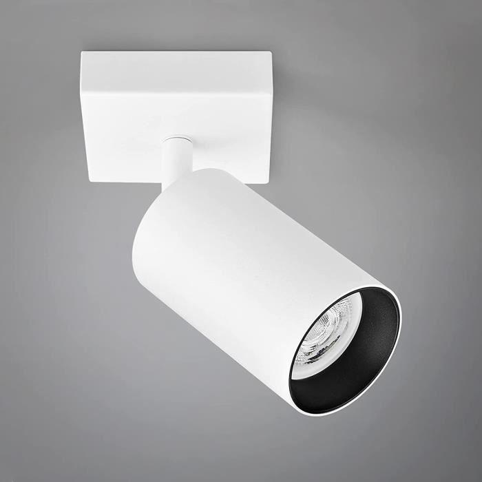 Plafonnier LED Spot Orientable, Plafonnier Luminaire ampoule LED GU10 5W incluse, applique murale LED 400lm Blanche chaude 3000 A441