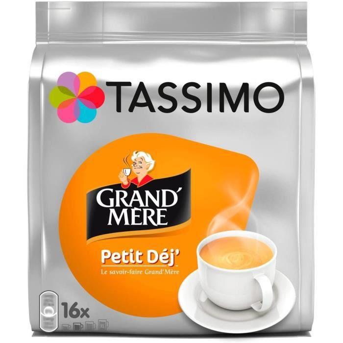 Café Dosettes - 80 boissons Grand Mère Petit Déjeuner (lot de 5 x 16 boissons)