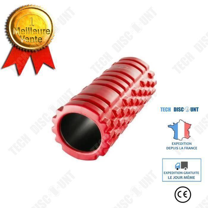 TECTAKE Rouleau de Massage Foam Roller Sport Fitness en Mousse EVA Rouge COSwk34154