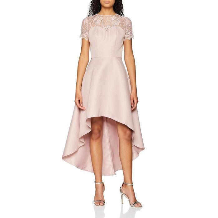 Chi Chi London Loredana Robe de soirée, Rose (Mink Military), 42 (Taille Fabricant: 14) Femme - 6251