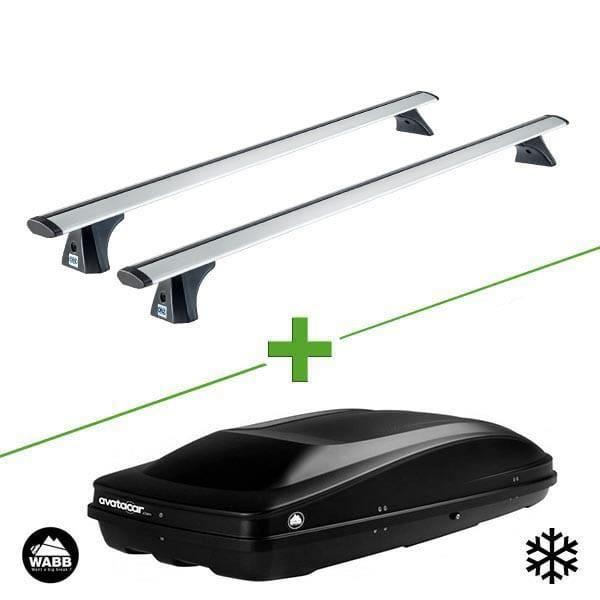 Pack barres et coffre de toit Cruz Airo fix + Wabb L pour Chevrolet Trax 5 portes - 3665597617184