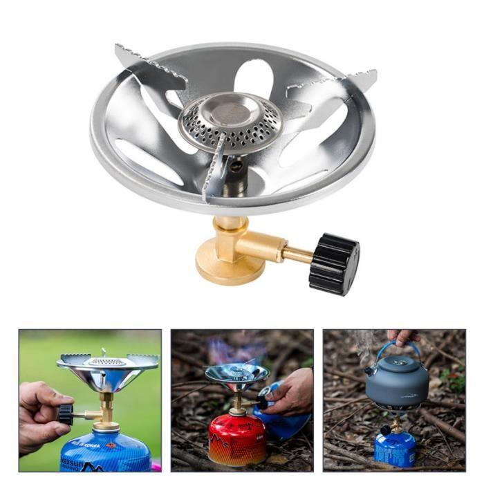 Tête de brûleur portative de cuisinière à gaz de camping en plein air pour l'utilisation de rechaud camping - camp de base