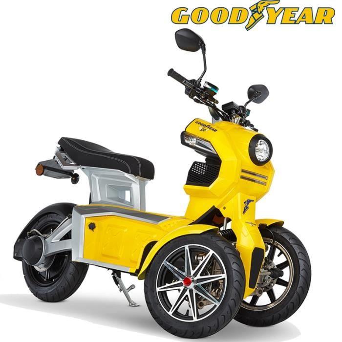 Scooter moto électrique adulte 3 roues Good year EGO2 DOOHAN ITANK 50 jaune
