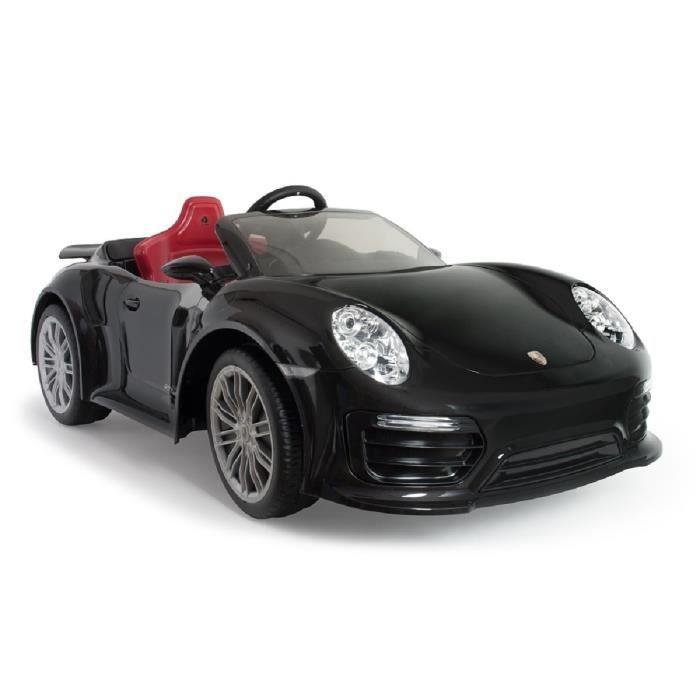 INJUSA Voiture électrique Porsche 911 Turbo S 12V Imove Special Edition Black