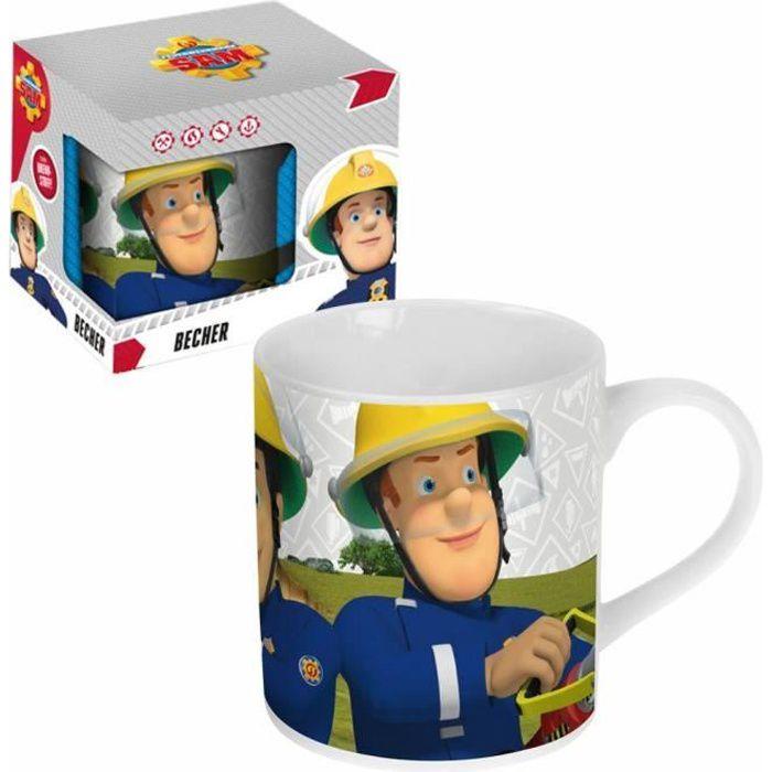 Sam Le Pompier - Fireman Sam - Enfants Tasse Mug Céramique dans Boîte Cadeau 300ml