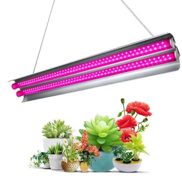 2ft LED Grow Light Double Tubes Full Spectrum 60W lampe croissante pour plantes d'intérieur
