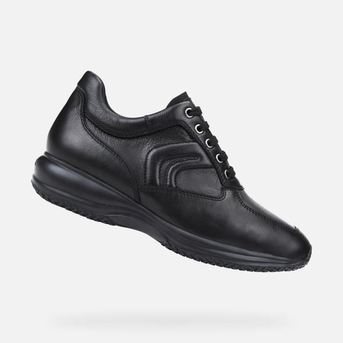 Geox U4356H00085 chaussures de tennis faible homme NOIR
