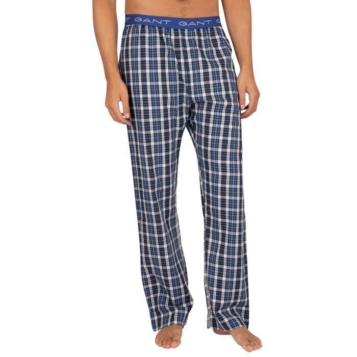 GANT Bas de pyjama tissés, Bleu, Homme