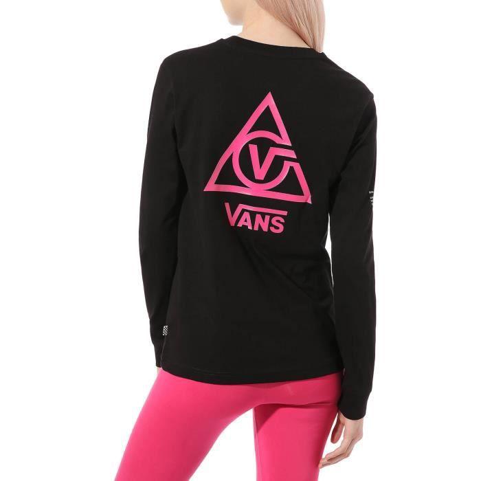 Vans T-Shirt pour Femme Manches Longues 66 Supply Tri Boyfriend Noir VN0A53ORBLK
