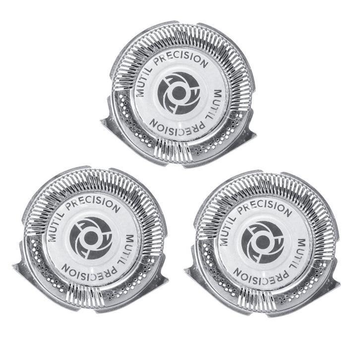 3 pcs - ensemble têtes de rasoir, piece de rechange, lames de tête de rasoir multi précision pour Philips Norelco série 5000