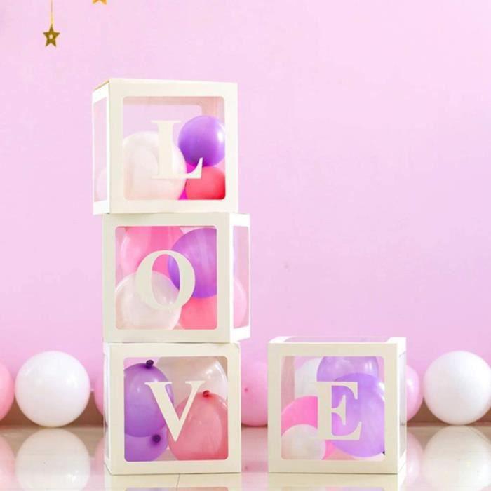 1 Set/4pcs Transparent Balloon Box Party Decorative Balloons Case Creative BRACELET - COLLIER A ION NEGATIF - D'EQUILIBRE