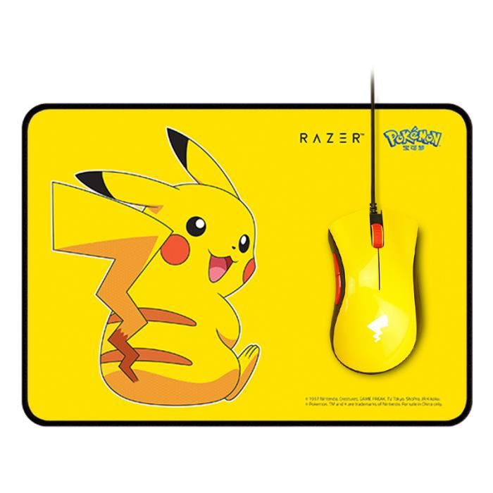 Razer Pokemon Pikachu Edition Gaming Mouse with Pad for Girls - Exclusivité Chine (sans clavier)