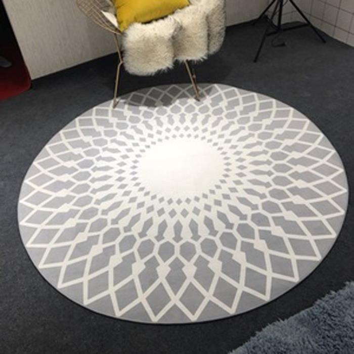 Nordic mode noir et blanc salon table basse grand chambre &eacutetude ronde ( taille : 90cm )