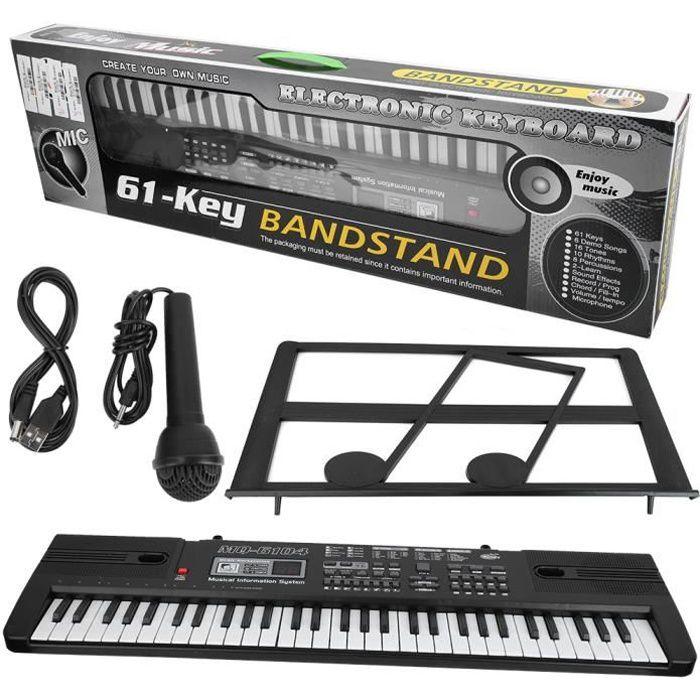61 touches de musique numérique orgue électronique clavier portable avec microphone pour enfants